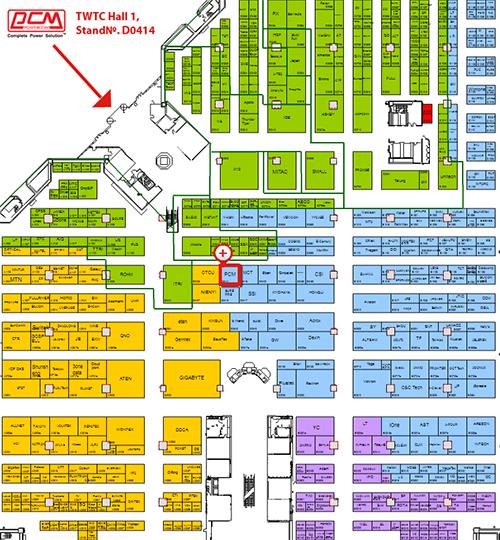 36-я международная выставка COMPUTEX схема