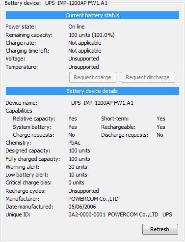 данные SmartBattery ИБП PCM IMD-1200AP