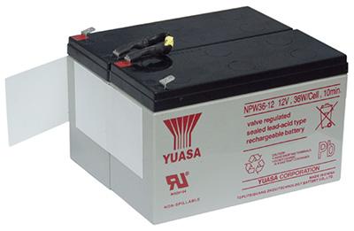 батарея из двух аккумуляторов YUASA NPW 45-12 из комплекта ИБП PCM IMD-1200AP